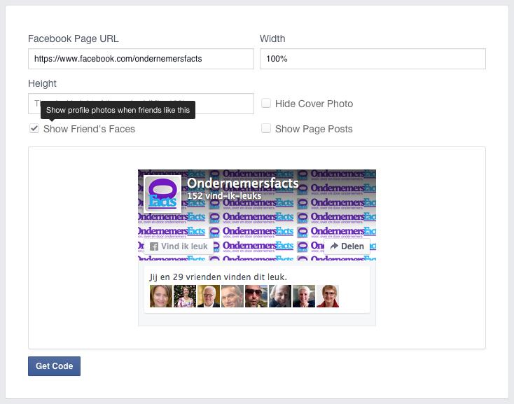 De nieuwe facebook likebox een tutorial op Ondernemersfacts